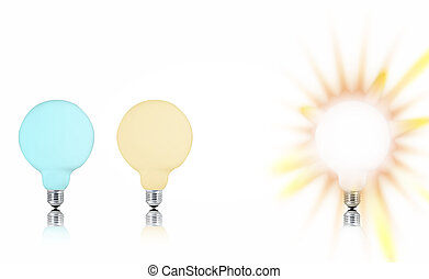 電球, 多色刷り