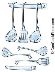 set kitchen utensils