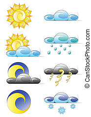 set of weather climate icons