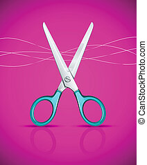 Nozhnitsy_ready_IS124jpg - scissors on pink background -...