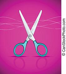 Nozhnitsy_ready_IS124jpg - scissors on pink background -...
