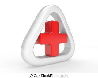 First Aid sign on a white background