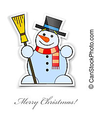 sticker with smiling snowman