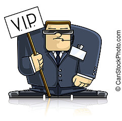 Security_VIP_sign - security man in suit and goggles vector...