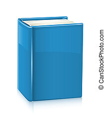Book - book with blue cover vector illustration isolated on...