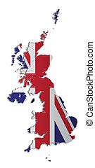 UK and Crown Dependencies Map - A simple 3D map of the UK...