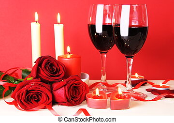 Romantic Dinner for Two Still Life