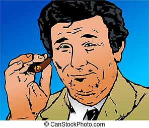 Columbo - Pop art style illustration of the tv character...