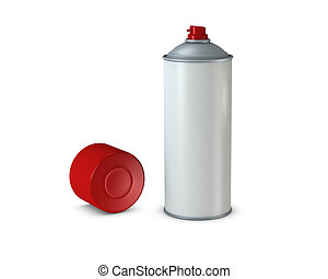 Spray can - One 3d spray can with blank space for general...