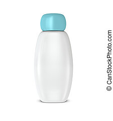 White shampoo bottle - One 3d shampoo bottle with blank...