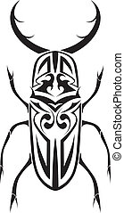 Tribal stag beetle vector tattoo