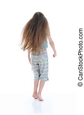 Little girl with long hair