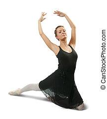 Female dancer - Young caucasian brunette Female dancer on...
