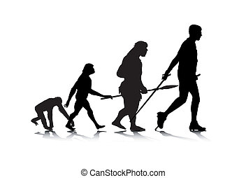 Human Evolution 2 - An abstract vector illustration of human...
