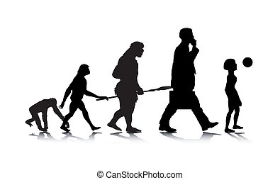 Human Evolution 6 - An abstract vector illustration of a...