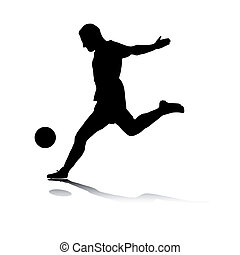 Shooting Striker - Illustration of a striker%u2019s shot.