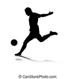 Shooting Striker - Illustration of a striker%u2019s shot.