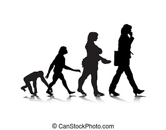Human Evolution 7 - An abstract vector illustration of human...