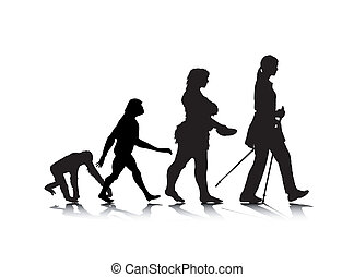 Human Evolution 8 - An abstract vector illustration of human...