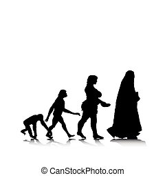 Human Evolution 11 - An abstract vector illustration of...