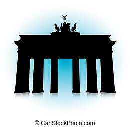 The Brandenburg Gate - An abstract vector illustration of...
