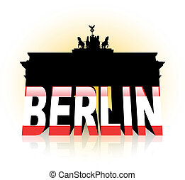 The Brandenburg Gate in Berlin - An abstract vector...