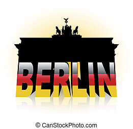 The Brandenburg Gate in Germany - An abstract vector...