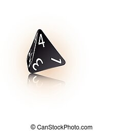 4-sided Die - An abstract vector illustration of a 4-sided...