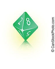 8-sided Die - An abstract vector illustration of an 8-sided...