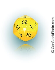 20-sided Die - An abstract vector illustration of a 20-sided...