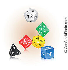 Dice - An abstract vector illustration of a dice set