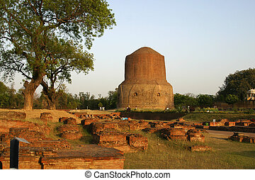 Dhamekh Stupa Sarnath India - The legend says that the...