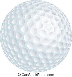 Golf ball - Vector illustration of golf ball