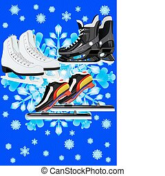 Sports skates - Winter Sports Skates for different sports