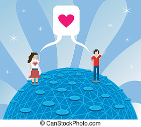 Online love - Social media today: fall in love over...