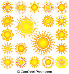 sun set - bright symbolic vector sun set