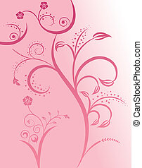 Floral silhouette sexy girl, element for design, vector...