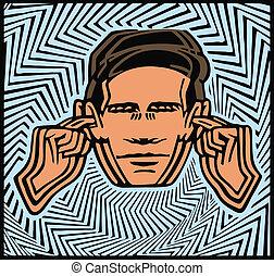 Noise - Vector noise symbol.