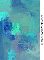 acrylic glazes on wooden panel - hand painted acrylic glazes...