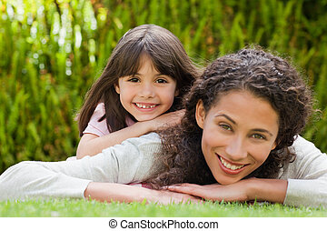 Adorable mother with her daughter i