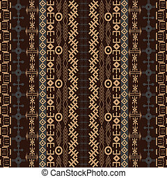 Background with traditional African design in brown tones