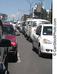 Mid day traffic in Addis - Mid day traffic jam in Addis...