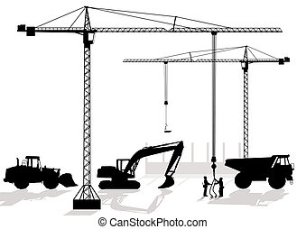 of work at building site