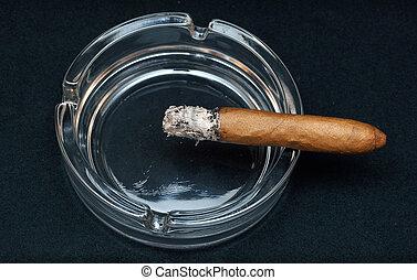 rökning, cigarr, askkopp