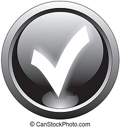 black tick or checkmark icon