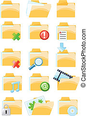 Set of vector folder icons - Collection of vector folder...
