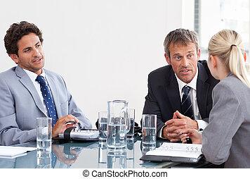 coworkers, durante, reunião