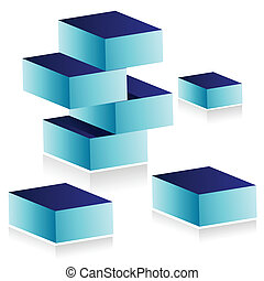 building blocks illustration design isolated over white