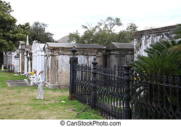 Above Ground Cemetery, New Orleans - Turn of the century...