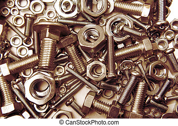 Nuts and bolts - Assorted nuts and bolts close-up